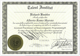Licensed Practitioner of Neuro-Linguistic Programming