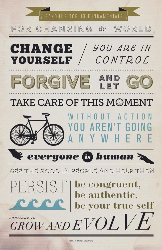 Los 10 fundamentos de Gandhi